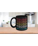 Trump 2020 Mug Retro Vintage Look Coffee Cup Ceramic Black - $19.55+