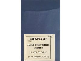 "The Paper Cut Ming Blue/White Duplex 25 Scored Card Bases, 5.5"" x 8.5"""