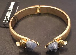 Design Lab Lord & Taylor Bracelet W/ Blue Glass Cabochons / Rhinestones ... - $11.30