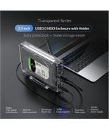 ORICO 3.5'' SATA to USB3.0 HDD Transparent Enclosure w/Holder 12TB Max U... - $25.69