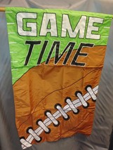 "Game Time House Flag 28x44"" Decorative Flag Banner Football Fall Sports NIP - $13.85"
