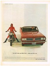 Vintage 1963 Magazine Ad Pontiac Wide Track To Keep You Stable & Level In Turns - $5.93