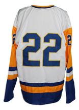 Custom Name # Saskatoon Blades Retro Hockey Jersey Kelly Chase White Any Size image 2