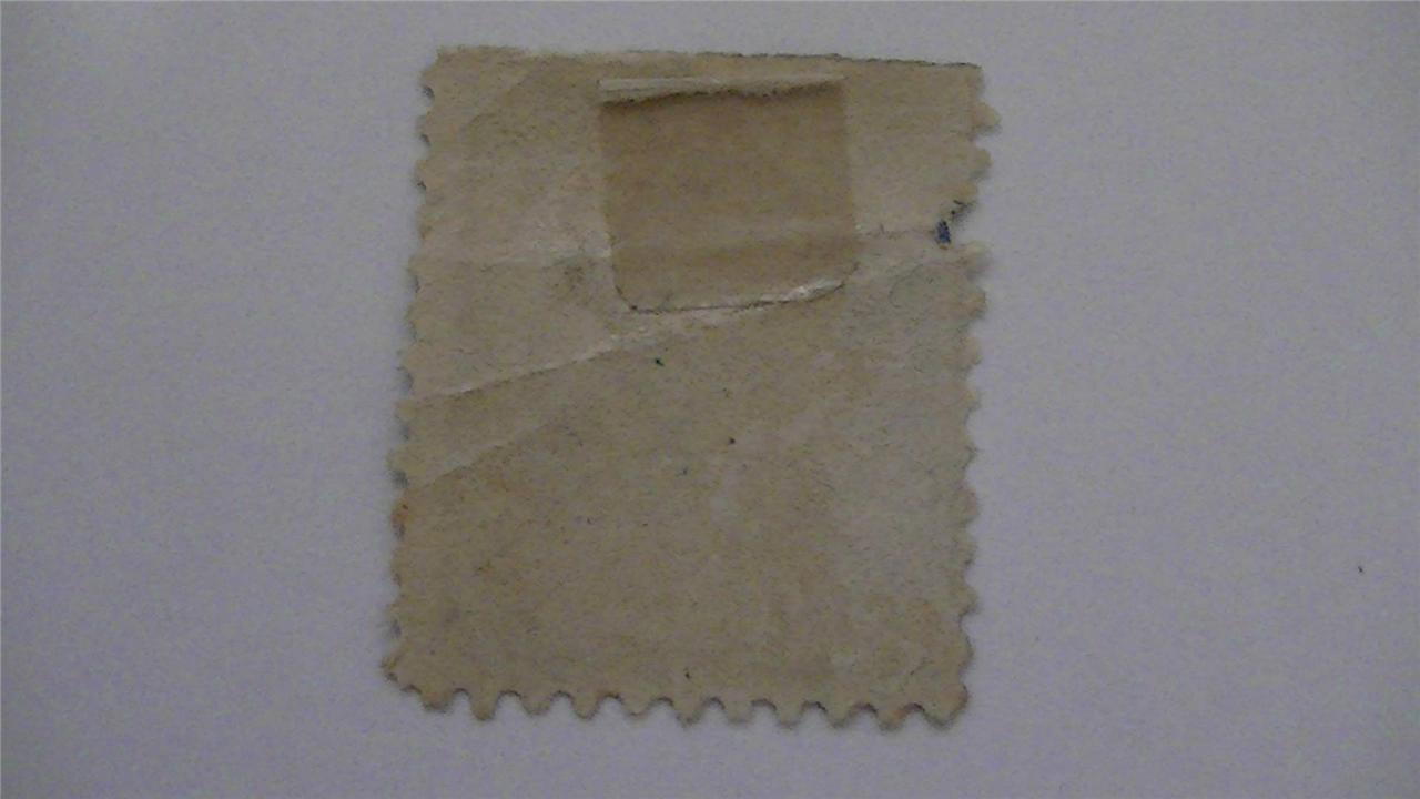 Vintage Ultramarine USA Used 20 Cent Stamp