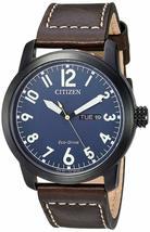 Citizen Mens Watch Brown leather strap Eco-Drive BM8478-01L  image 1