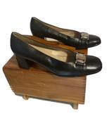 "Salvatore Ferragamo Women's Leather Shoes Heels 2.5"" Round  Toe - $76.99"