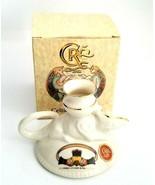 Celtic Porcelain Ferdia Candle Holder Chameleon Irish Claddagh Love Frie... - $26.00