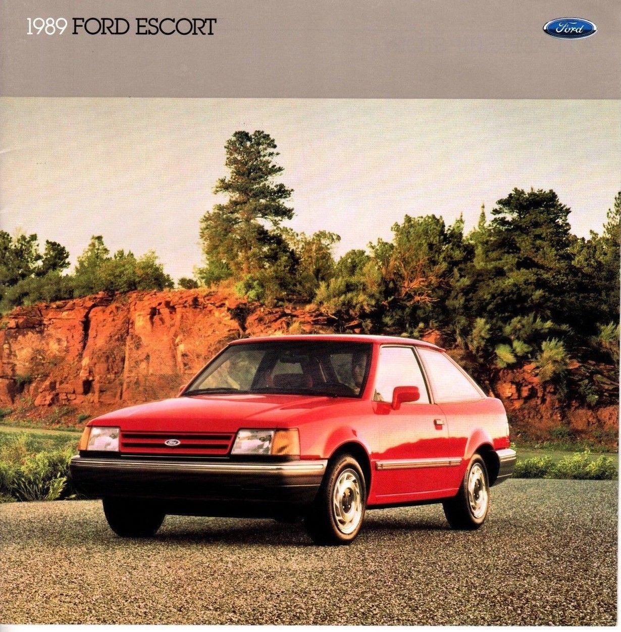 1989 Ford Escort 20-page Original Dealer Sales Brochure GT LX Hatchback