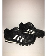 Adidas Telstar Black White Finish Line Quilted Lace Up Soccer Shoes Size... - $16.37
