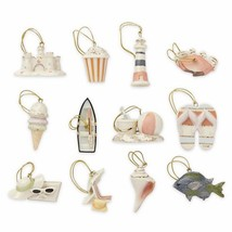Lenox Summer Miniature Tree Ornaments Set of 12 Sand Castle Boat Beach B... - $78.70