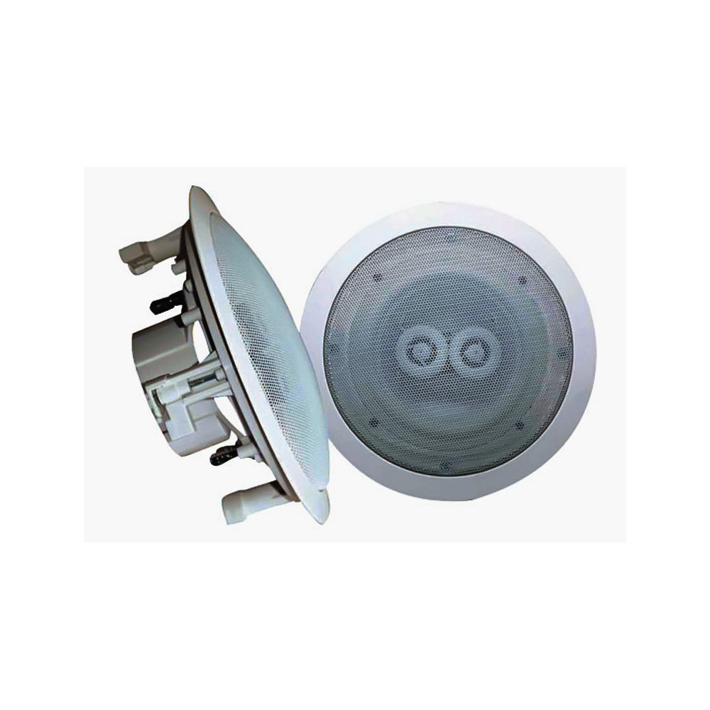 "Dual Voice Coil Ceiling Speaker: 8"" In-Ceiling (Dual Channel/ Voice Coil) Weather Proof"
