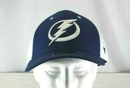 Tampa Bay Lightning Blue/White Baseball Cap Stretch Fit L/XL - $31.99