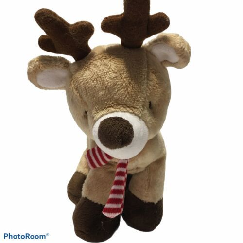 "Primary image for Carter's Just One You  Scarf Reindeer 7"" Long Plush Toy Stuffed Animal Christmas"