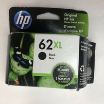 NEW Genuine HP 62XL Black Ink Cartridge C2P05AN High Yield OEM Exp. May 2022 - $31.68