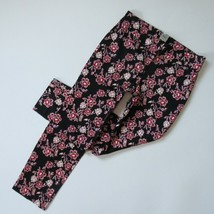 NWT Ann Taylor Floral Shantung Ankle Trouser in Black Tapered Crop Pants 4 - $27.99