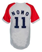 Hideo Nomo #11 Kintetsu Buffaloes Japan Baseball Jersey Grey Any Size image 2