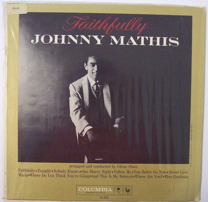Faithfully by Johnny Mathis, Columbia, LP, Vinyl Record Album, Ex Library
