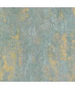 Regal Texture Wallpaper Metallic Gold, Aqua, Blue Norwall Wallcovering C... - $34.64