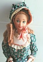 1976 Barbie Dolls of the World Pioneer Barbie Green Flower Dress & Bonnet - $33.66