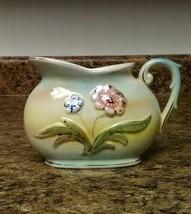 Vintage Japan Porcelain Creamer Floral Hand Painted  - $8.03