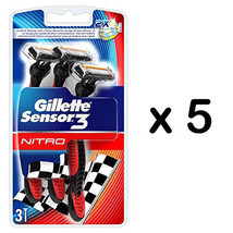Gillette Sensor 3 Nitro 2X Better Rinsing 3 Blades 1 Pack Total 3 Razors - $8.99