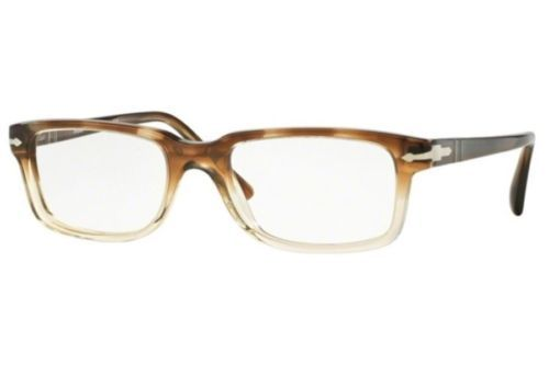 Persol Classics Eyeglasses PO3130V 1037 52MM  in Striped Brown Crystal 52mm