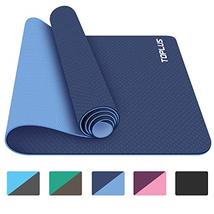 TOPLUS Yoga Mat, 1/4 inch Pro Yoga Mat TPE Eco Friendly Non Slip Fitness... - $32.44