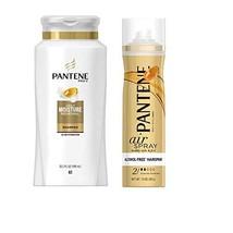 Pantene Pro-v Series Daily Moisture Renewal Hydrating Shampoo 20.1 Oz and Air Sp - $14.84