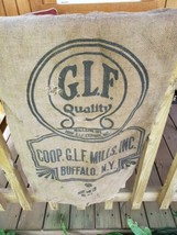 Vintage Advertising Burlap bag Glf quality Buffalo NY 100LBS Used - $17.82