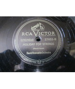 """10"""" 78 rpm RECORD RCA VICTOR 27853 DAVID ROSE OUR WALTZ / HOLIDAY FOR ST... - £7.62 GBP"""
