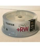 Fujifilm DVD +RW 4X 15 Pack 4.7GB 120 Min 1 Spindle Blank Discs  - $21.99