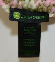 John Deere LP67784 Green White Pink Brown Knitted Hat Acrylic image 6