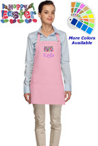 Personalized Easter Apron with Hoppy Easter Embroidery Design - $22.99