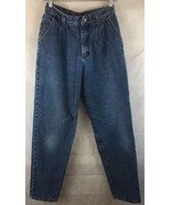 Lee High Waist Denim Medium Wash Denim Jeans Size 6 Pleated Straight Leg - $17.77