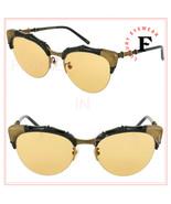 GUCCI 0661 Cat Eye Bamboo Style Black Yellow Sunglasses GG0661S Unisex A... - $425.70