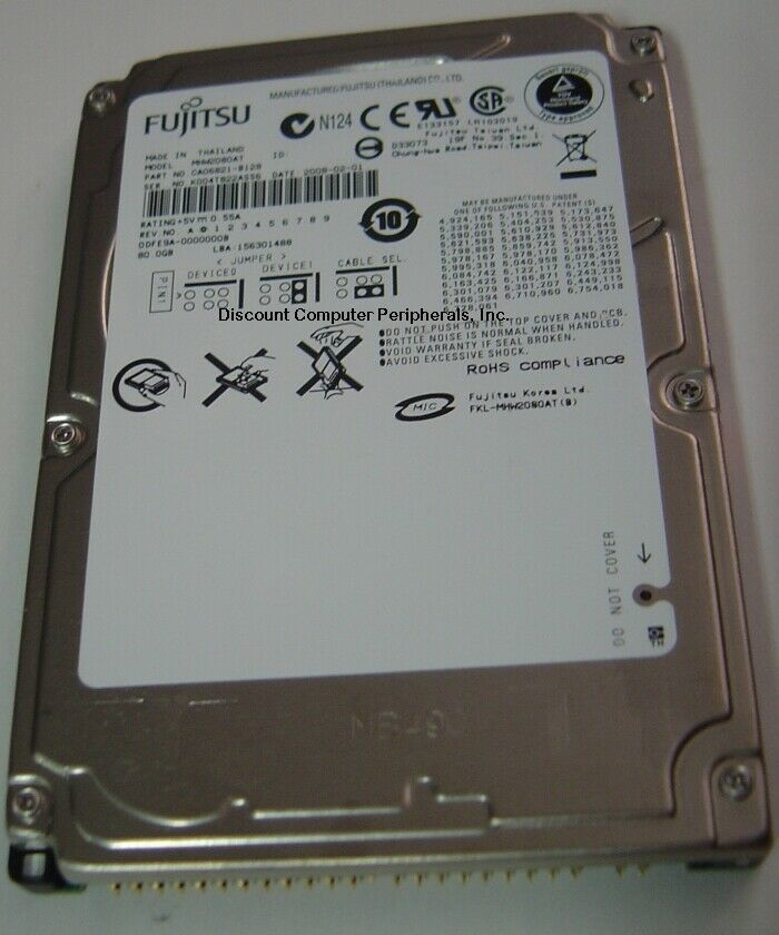 """NEW MHW2080AT Fujitsu 80GB 2.5"""" 9.5MM IDE 44PIN Hard Drive Free US Ship"""