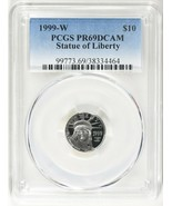 1999-W $10 Tenth-Ounce Platinum American Eagle PCGS Proof-69 DCAM - $350.00