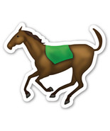 Emoji Horse shaped vinyl sticker 100mm or 150mm decal equine racing show... - $3.00+