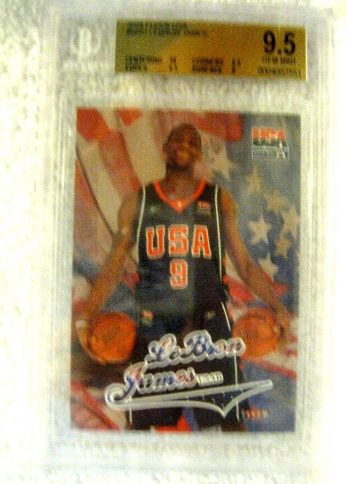 Lebron James RC 2004 Fleer USA Rookie Card GEM BGS 9.5! Cavaliers RC