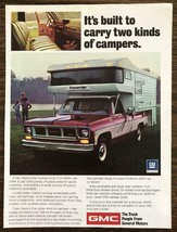 1974 GMC Truck Print Ad Built to Carry Two Kinds of Campers - $9.95