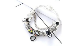 "Mickey's ""Magical Silhouette"" Disney Charm Bracelet (Black) - $13.99"