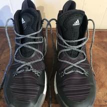 Adidas Black Geofit Hi Top Sneakers Mens Size 12 Basketball Sports - $35.64