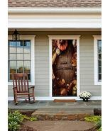 Happy Thanksgiving with Autumn Fruits Door Cover - $49.99+
