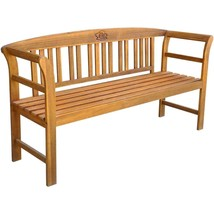 "vidaXL Solid Wood Garden Bench 61.8"" 3 Seater Patio Outdoor Chair Seating - $118.99"