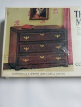 The House of Miniatures 40011 Chippendale 3 drawer chest 1750-1790 NEW IN BOX  - $14.55