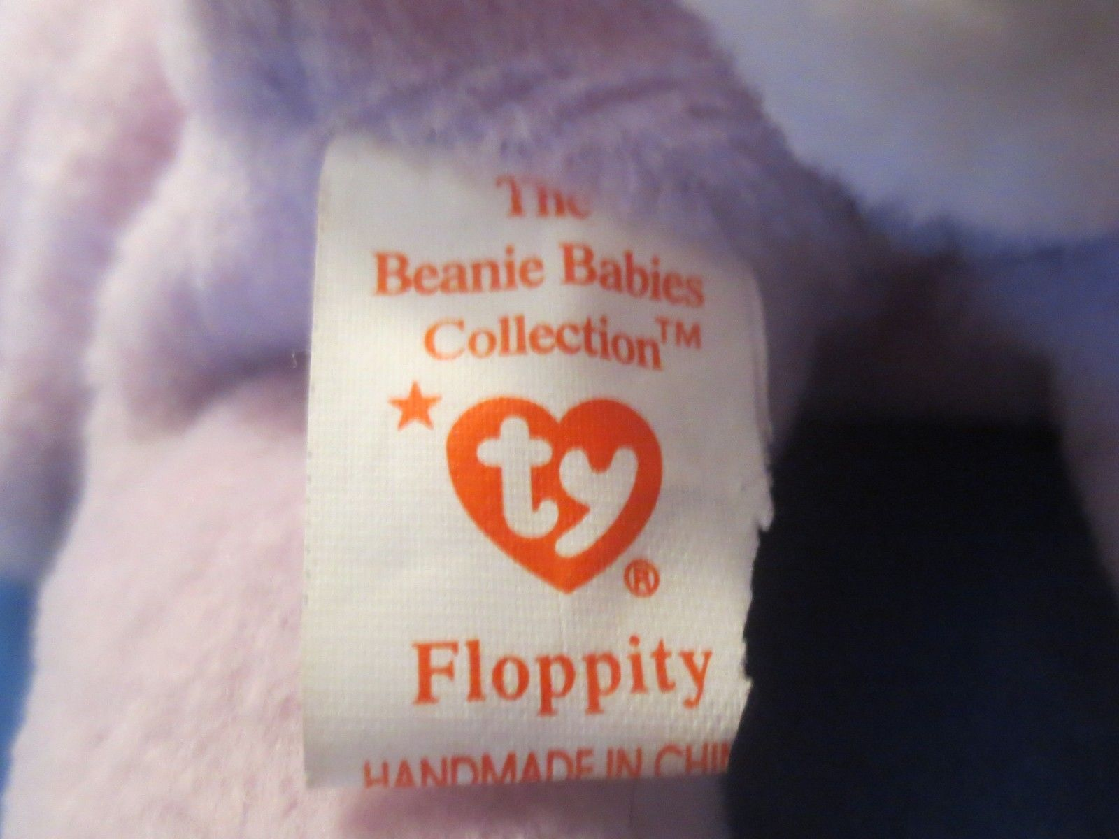 Ty Beanie Baby Floppity 4th Generation Hang Tag 3rd Gen TT Torn Tush Tag