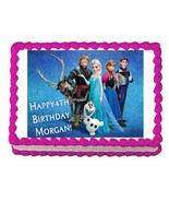 Frozen edible cake image party cake topper decoration frosting sheet image - $7.80