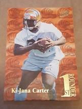 1995 Fleer Ultra 1st Rounder #7 Ki-Jana Carter Cincinnati Bengals Football Card - $1.00