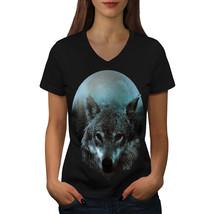 Wolf Moon Light Hunt Shirt Night Kill Women V-Neck T-shirt - $12.99+