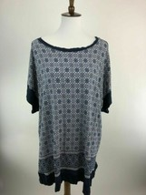 Single Womens Blouse Top Size 3X Blue Short Sleeve Boat Neck Stretch B79... - $14.44